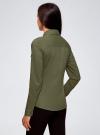 Рубашка приталенная с нагрудными карманами oodji #SECTION_NAME# (зеленый), 13L12001B/43609/6800N - вид 3