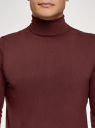 Свитер базовый из вискозы oodji для мужчины (красный), 4B312003M-3/50037N/4900N