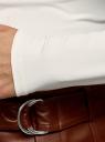 Водолазка базовая облегающая oodji для женщины (белый), 15E11001-3B/45297/1201N