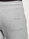 Брюки трикотажные на завязках oodji для мужчины (серый), 5B200004M-3/19014N/2300M