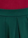 Юбка расклешенная со встречными складками  oodji #SECTION_NAME# (зеленый), 11600396-1/43102/6900N - вид 4