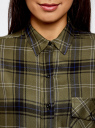 Блузка из вискозы с вышивкой на спине oodji #SECTION_NAME# (зеленый), 11411171/46974/6629C - вид 4