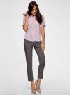Блузка вискозная с короткими рукавами oodji #SECTION_NAME# (розовый), 11411137B/14897/4000N - вид 6
