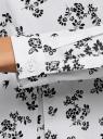 Блузка хлопковая с баской oodji #SECTION_NAME# (белый), 13K00001B/26357/1029F - вид 5