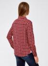 Рубашка в клетку с карманами oodji #SECTION_NAME# (красный), 11400433-1/43223/4529C - вид 3