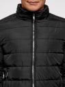 Куртка стеганая с воротником-стойкой oodji #SECTION_NAME# (черный), 1B111005M/48961N/2900N - вид 4