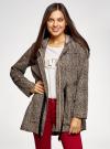 Куртка удлиненная на кулиске oodji для женщины (бежевый), 11D03006/24058/3329A - вид 2