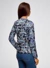Куртка стеганая с круглым вырезом oodji для женщины (синий), 10204040-1B/42257/7973E - вид 3