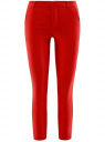 Брюки skinny из вискозы oodji для женщины (красный), 11707117/45560/4500N