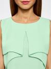 Топ из легкой струящейся ткани oodji #SECTION_NAME# (зеленый), 11400425-3/45287/6500N - вид 4