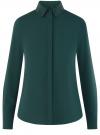 Блузка с декором на воротнике oodji #SECTION_NAME# (зеленый), 11403172-3/31427/6900N