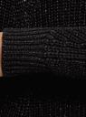 Кардиган вязаный без застежки oodji для женщины (черный), 63203133/49472/2900X