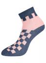Комплект из трех пар укороченных носков oodji #SECTION_NAME# (разноцветный), 57102418T3/47469/56