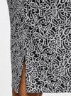Юбка-карандаш жаккардовая oodji #SECTION_NAME# (черный), 21600282-5/47544/2912E - вид 5