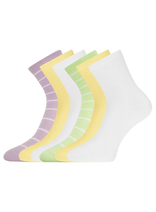 Комплект из шести пар носков oodji для женщины (разноцветный), 57102466T6/47469/19TLN