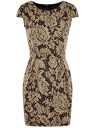 Платье облегающего силуэта из фактурной ткани oodji для женщины (черный), 14001139-3/43631/2935F