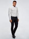 Рубашка приталенная в горошек oodji для мужчины (белый), 3B110016M/19370N/1079D - вид 6