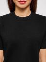 Джемпер прямого силуэта с коротким рукавом oodji #SECTION_NAME# (черный), 63812651/46096/2900N - вид 4