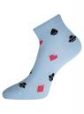 Комплект укороченных носков (6 пар) oodji для женщины (разноцветный), 57102418T6/47469/50