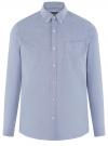 Рубашка из фактурной ткани oodji #SECTION_NAME# (синий), 3B310007M/49257N/7500O
