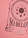 Футболка хлопковая свободного кроя oodji для женщины (розовый), 14702001-3/46158/4129P