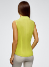 Рубашка базовая без рукавов oodji #SECTION_NAME# (зеленый), 11405063-4B/45510/6A00N - вид 3