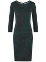 Платье трикотажное с вырезом-капелькой на спине oodji #SECTION_NAME# (черный), 24001070-5/15640/2962F