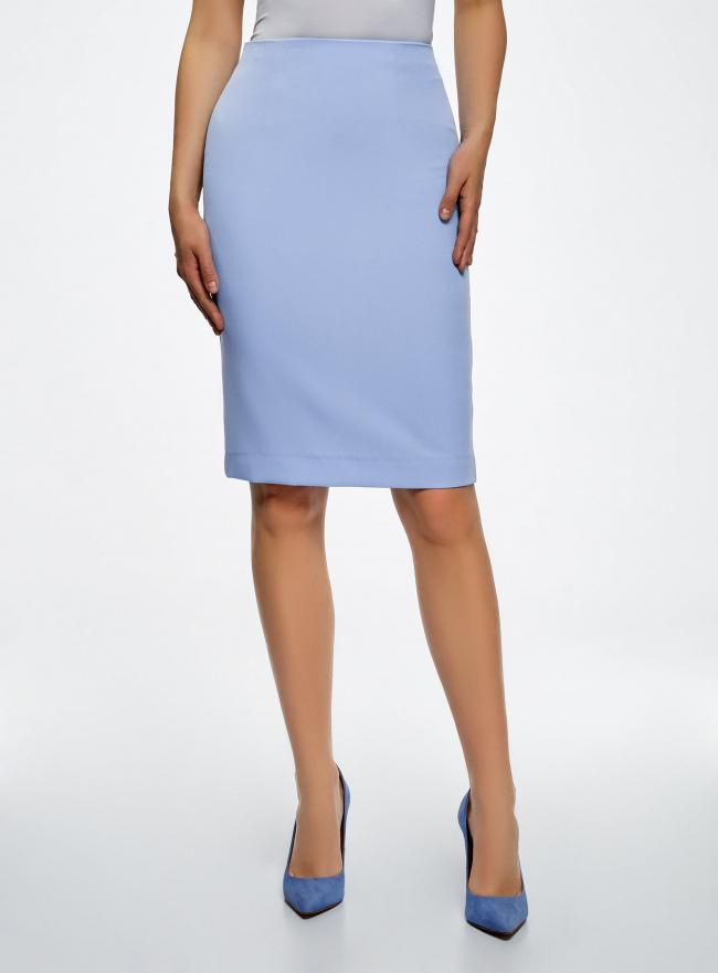 Юбка прямая базовая oodji для женщины (синий), 21600282-6B/14917/7501N