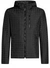 Куртка стеганая с капюшоном oodji #SECTION_NAME# (черный), 1B112007M/46376N/2900N