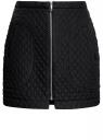 Юбка из фактурной ткани с молнией спереди oodji #SECTION_NAME# (черный), 11600410/38325/2900N