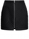 Юбка из фактурной ткани с молнией спереди oodji для женщины (черный), 11600410/38325/2900N