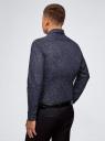"Рубашка хлопковая с принтом ""пейсли"" oodji #SECTION_NAME# (синий), 3L110333M/19370N/7974E - вид 3"