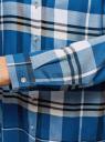 Блузка принтованная из вискозы oodji #SECTION_NAME# (синий), 11411098-4/45208/7410C - вид 5