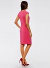 Платье облегающего силуэта с фигурным вырезом oodji #SECTION_NAME# (розовый), 22C12001B/42250/4701N - вид 3