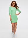 Платье трикотажное базовое oodji #SECTION_NAME# (зеленый), 14001071-2B/46148/6500N - вид 2