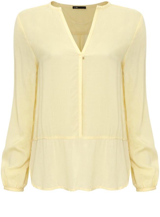 Блузка oodji для женщины (желтый), 21411075/24681/5000N