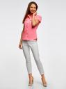 Рубашка базовая с коротким рукавом oodji #SECTION_NAME# (розовый), 11402084-5B/45510/4000Y - вид 6