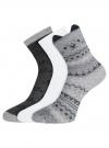 Комплект из трех пар носков oodji #SECTION_NAME# (разноцветный), 57102802-1T3/49668/1 - вид 2