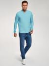 Рубашка льняная без воротника oodji #SECTION_NAME# (бирюзовый), 3B320002M/21155N/7300N - вид 6