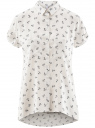 Блузка из вискозы с нагрудными карманами oodji #SECTION_NAME# (белый), 11400391-4B/24681/1279O