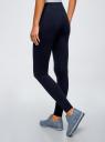 Легинсы базовые трикотажные oodji для женщины (синий), 18700046-2B/47618/7900N