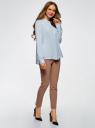 Блузка вискозная А-образного силуэта oodji #SECTION_NAME# (синий), 21411113B/26346/7002N - вид 6