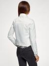 Куртка джинсовая oodji для женщины (белый), 11109037/49348/1000N - вид 3