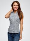 Рубашка базовая без рукавов oodji #SECTION_NAME# (синий), 11405063-4B/45510/1079E - вид 2