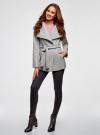 Пальто с поясом и асимметричной застежкой oodji для женщины (серый), 10104041-2/43442/2000M - вид 6