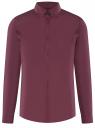 Рубашка базовая приталенная oodji #SECTION_NAME# (фиолетовый), 3B140002M/34146N/8800N