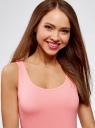 Майка базовая oodji для женщины (розовый), 24315001B/46147/4100N