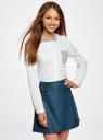 Рубашка базовая с нагрудным карманом oodji #SECTION_NAME# (белый), 11403205-10/26357/1079B - вид 2