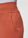 Брюки трикотажные (комплект из 2 пар) oodji для женщины (красный), 16700030-5T2/46173/3100N