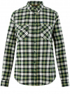 Рубашка клетчатая с нагрудными карманами oodji #SECTION_NAME# (зеленый), 13L00001-2/48869/6230C